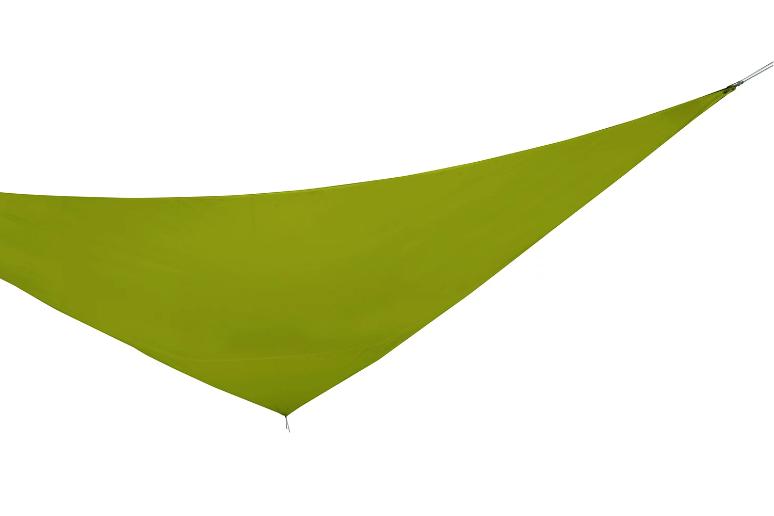 Tela para sombreo verde triangular