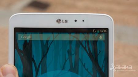 LG G Pad detalle pantalla