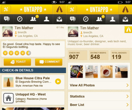 Untappd Windows Phone