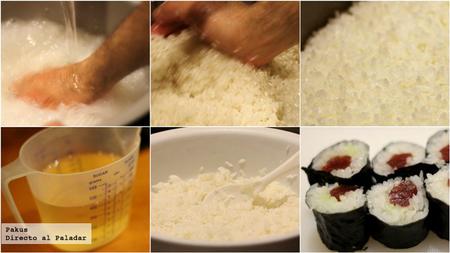 arroz sushi paso a paso