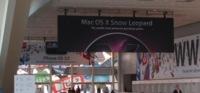 Más fotografías del Moscone Center: pancartas de Snow Leopard y del iPhone OS 3.0