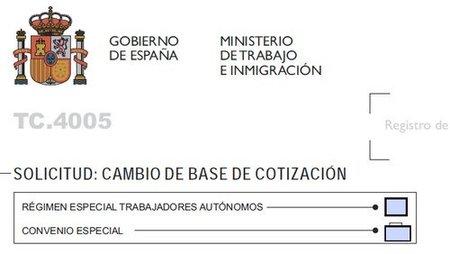 Bases de cotización para los autónomos en 2012