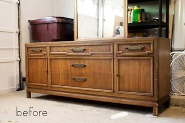 Antes y después: un mueble lacado en blanco y pizarra