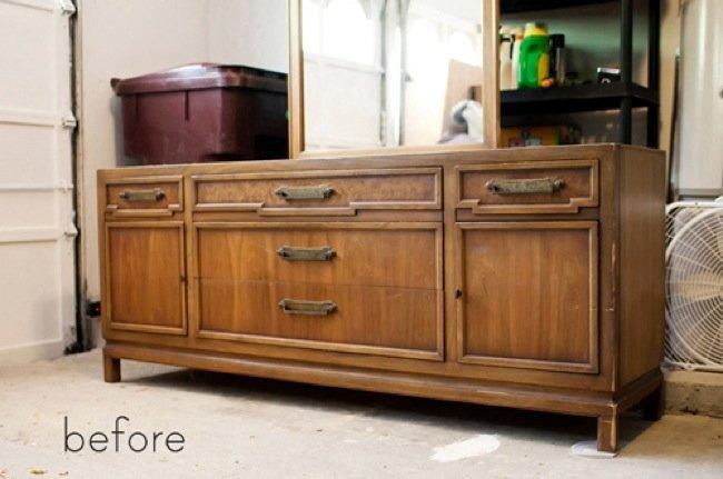 Antes y despu s un mueble lacado en blanco y pizarra - Muebles en crudo para pintar ...