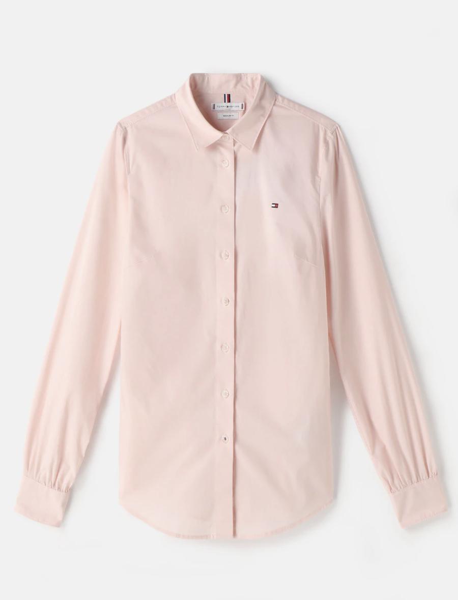 Camisa de mujer entallada manga larga