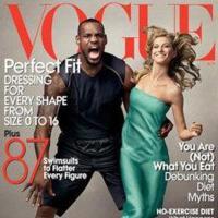 Gisele Bundchen y LeBron James en Vogue abril