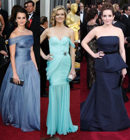 Vestidos azules Oscar 2012
