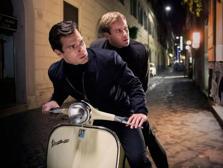 Henry Cavill y Armie Hammer en The Man From UNCLE