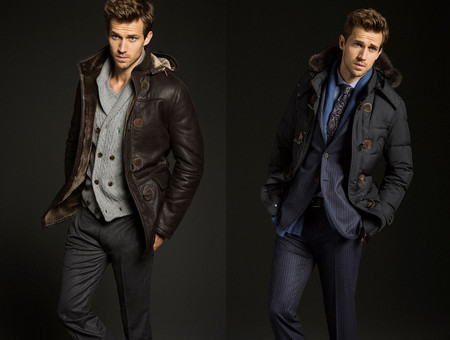 abrigo capucha cuero