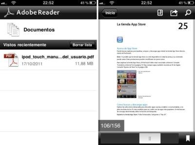 Adobe Reader para iOS, visualizar todo tipo de archivos PDF de forma rápida y fácil