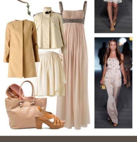 """Colección Nude de Mango Primavera 2011. Quiero el vestido Delphos, el """"little nude dress"""", la capa """"Gossip""""..."""