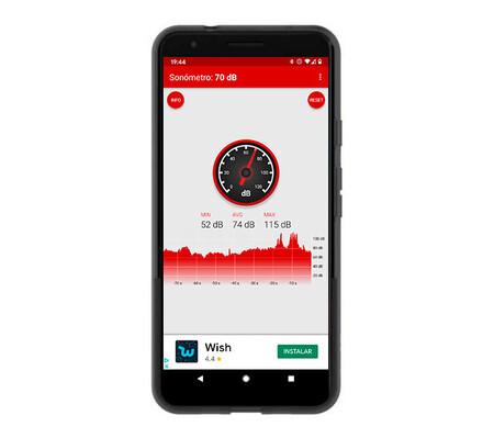 Hasta 115 decibelios hemos registrado con la app Sonómetro