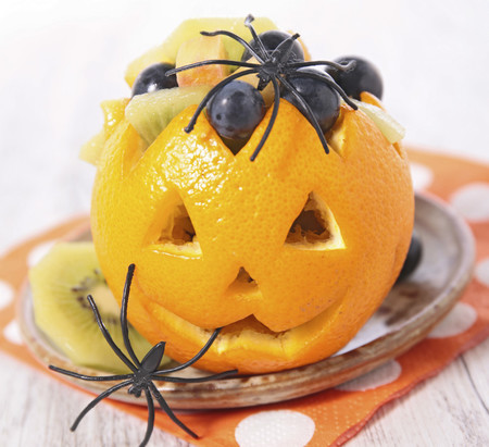 Ensalada de frutas de Halloween
