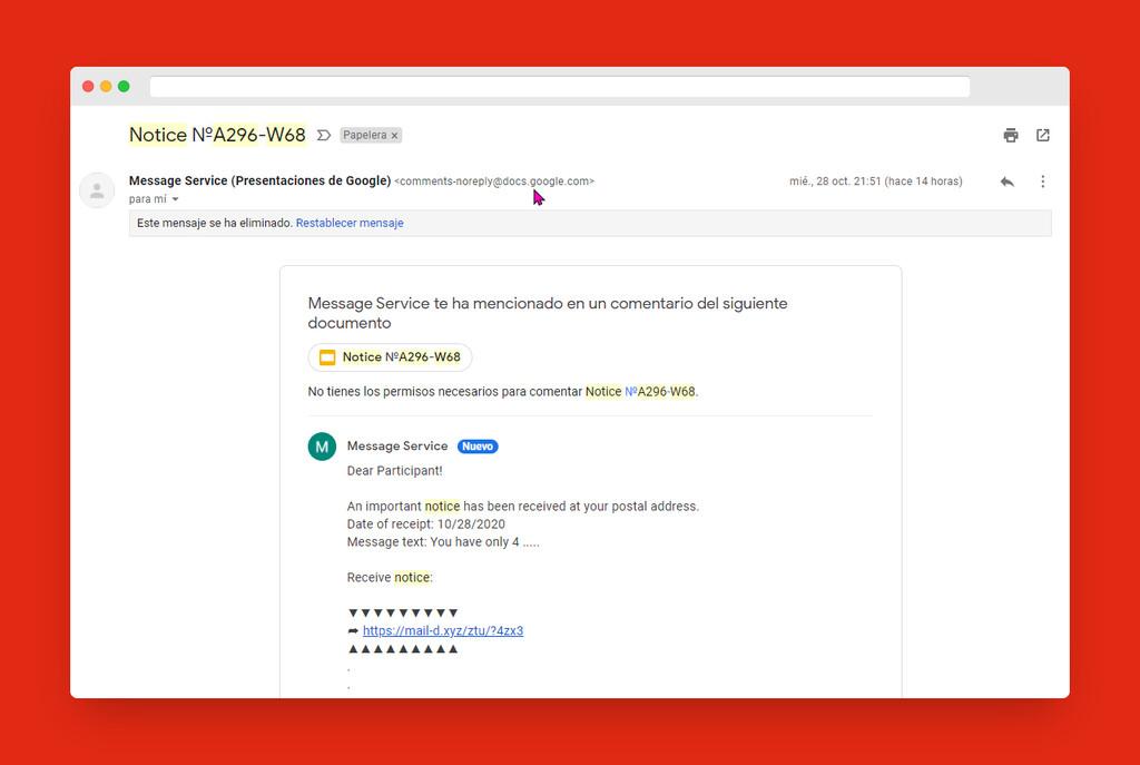 Si recibes notificaciones raras de Google Drive ten cuidado al abrir documentos compartidos, es una nueva estafa de phishing