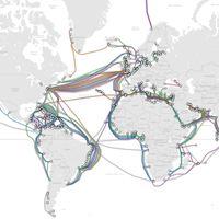 Este es el mapa de todos los cables submarinos que le dan forma a Internet