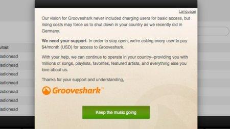 Grooveshark se vuelve de pago en algunos países