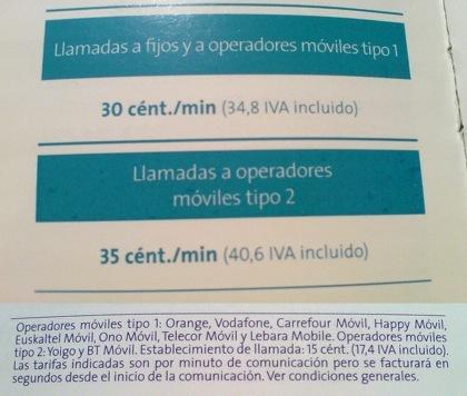 Movistar deja de aplicar el suplemento a Euskaltel y lo rebaja a 5 céntimos