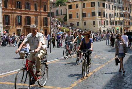 Ciclistas Roma