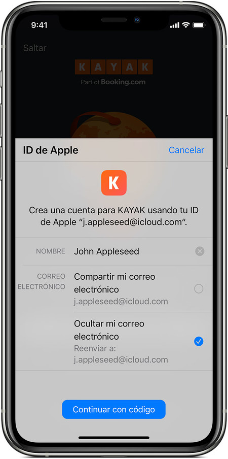Ios13 Iphone Xs Sign In With Apple Hide My Email