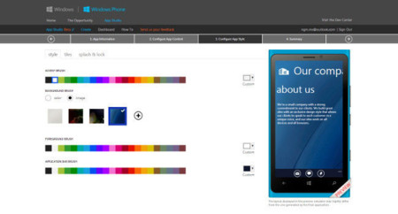 Windows Phone App Studio, crea aplicaciones sencillas en cuatro pasos