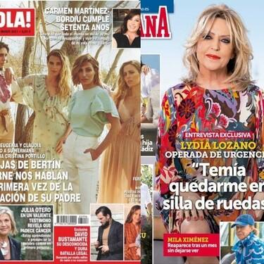 El vestido de novia de Isa Pantoja, las hijas de Bertín Osborne y en busca de Mila Ximénez: Estas son las portadas de la semana del 24 de febrero
