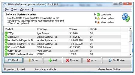 SUMo, mantener actualizado el software fácilmente