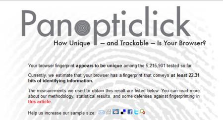 ¿Cómo de único (y por tanto identificable) es tu navegador?