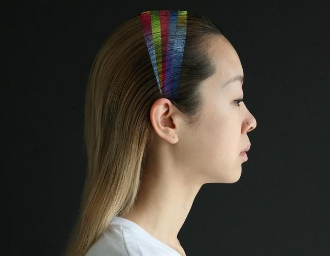 diadema arcoiris aerosol pintado tinte pelo trendy pelo pilífero melena