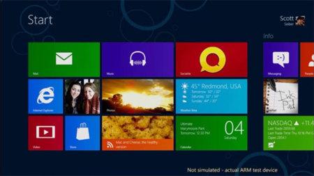 Microsoft quiere que Windows 8 para ARM esté listo el día del lanzamiento
