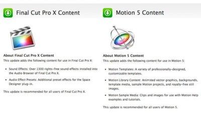 Manuales y contenido extra para Final Cut Pro X y Motion 5