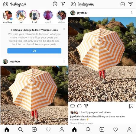 Instagram Likes Ocultos
