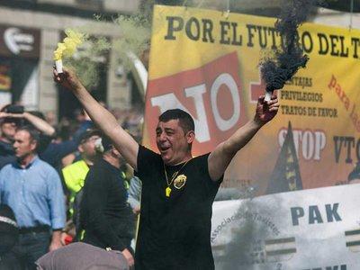"""Lo de hoy en Madrid no es una huelga, es un cierre patronal del taxi contra la """"competencia desleal de Uber y Cabify"""""""