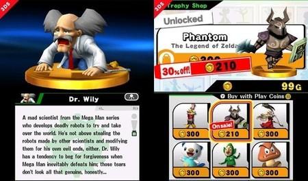 Los trofeos que no consigamos en Super Smash Bros. for 3DS podremos comprarlos