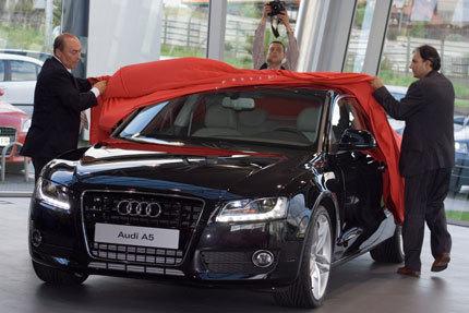 Presentación del Audi A5 en Brea Móvil