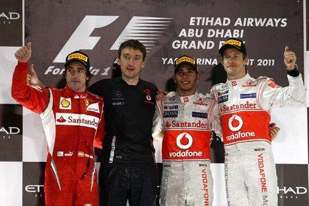 Sin Sebastian Vettel, Lewis Hamilton vence en el Gran Premio de Abu Dhabi