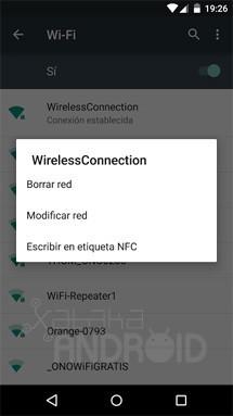 Escribir Wi-Fi en etiqueta NFC