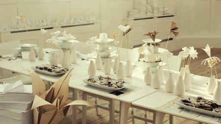 Una buena idea: decora tu mesa con adornos de Origami