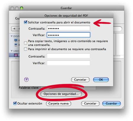 Truco: Creando documentos PDF protegidos con contraseña