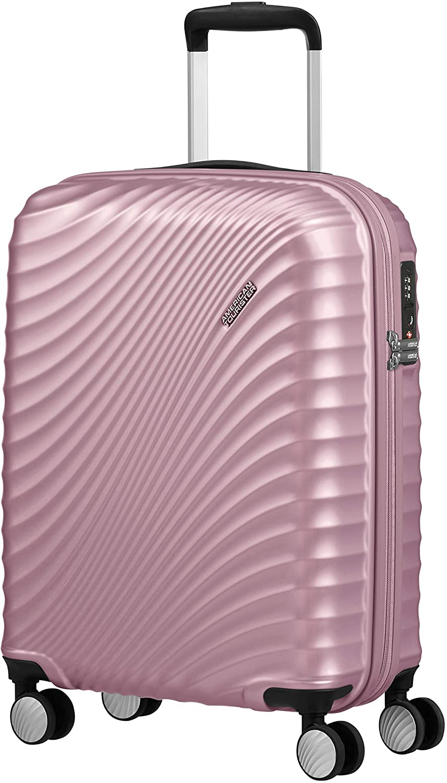 American Tourister Jetglam Spinner S Equipaje de Mano, 55 cm, 35.5 L, Rosa (Metallic Pink)