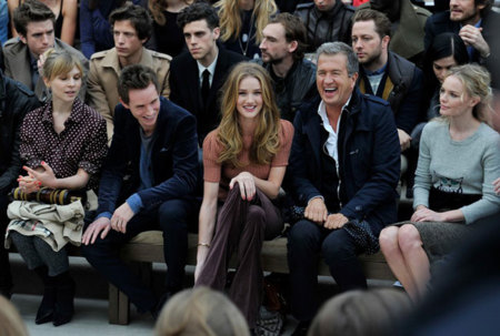 Front row Burberry Londres