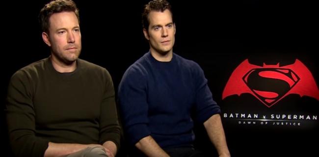 Ben Affleck y Henry Cavill se enteran de las críticas que está recibiendo Batman V Superman