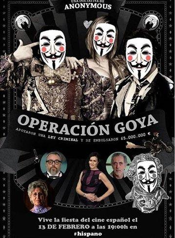 Anonymous en los Goya