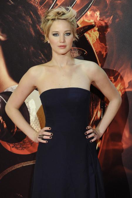 Jennifer Lawrence en Madrid vestida de Dior (otra vez)