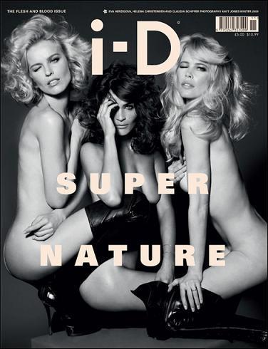 Tres supermodelos, desnudas en la portada de la revista i-D