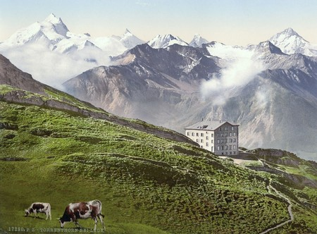 The Village Of Leukerbad And The Torrenthorn Valais