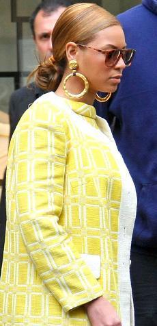 El look retro de Beyoncé en la Costa Azul