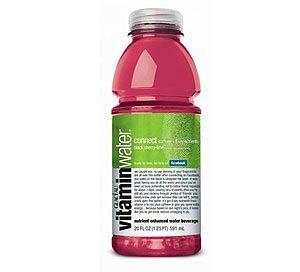 Agua con cafeína y vitaminas: Glaceau Vitamin Water Connect