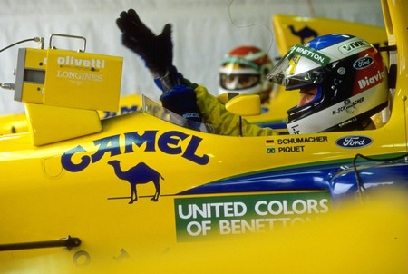 Schumacher Piquet Benetton F1 1991