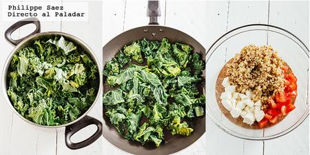 Ensalada Kale Quinoa Receta