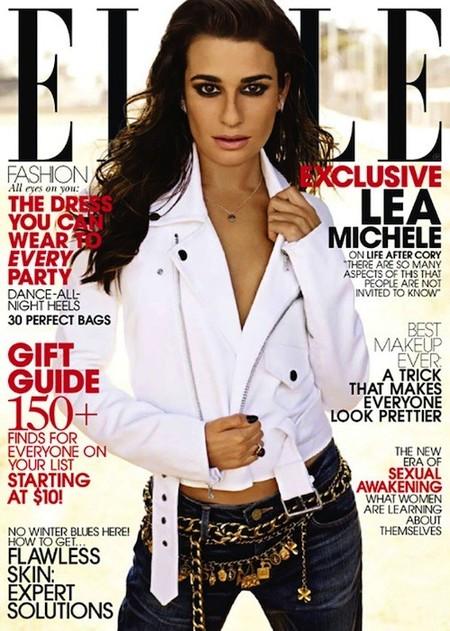 ¿Se puede estar más buena que Lea Michele para la revista Elle?